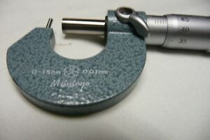 Mitutoyo Tube Micrometer Cylindrical Pin Anvil Ratchet Stop 0 15mm Machinist
