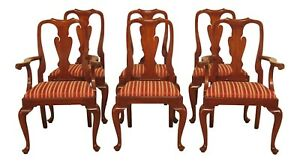 L47739ec Set Of 6 Henkel Harris Cherry Model 110 Dining Room Chairs