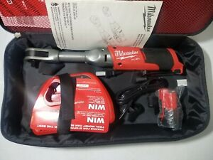 New Milwaukee M12 Fuel 3 8 Dr Extended Reach Long Ratchet Kit 55 Ft Lbs 2560 21
