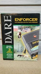 New Dare Enforcer Electric Fence Energizer 300 acre Plug in Free Shipping