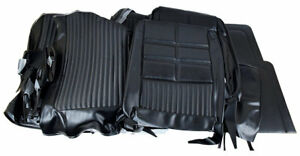 1969 Mustang Vinyl Seat Cover Set Deluxe With Bench Black