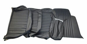 1964 1965 Mustang Front Bench Vinyl Seat Covers Black