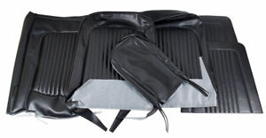 1968 Mustang Front Bench Vinyl Seat Covers Black