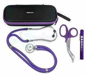 Professional Sprague Double Dual Head Rappaport Stethoscope W Case Adult Child