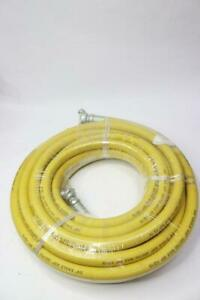 Eagle Air 3 4 300 Psi Working Pressure Yellow Jackhammer Rubber Hose Assembly
