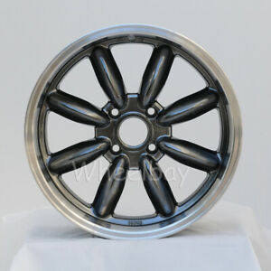 4 Pcs Rota Rb Wheels 17x7 5 4x114 3 Offset 4 Ryl Hyperblk Big Caps