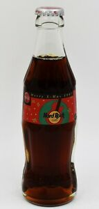 *1997 Hard Rock Cafe Coca Cola Bottle Berlin, Germany Coke Merry X-Mas Christmas