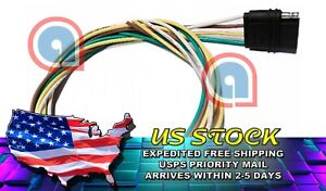 4 Pin Flat Female Plug Trailer Wiring Harness Adapter 18awg Cable 36 Inch