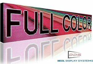 24 X 24 Full Color Indoor 10mm Hd Programmable Led Sign Text Graphic Display