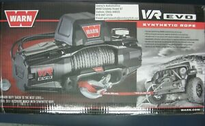 Warn 103255 Vr Evo 12s 12000lb Winch 12v Hawse Fairlead 90 3 8 Synthetic Rope