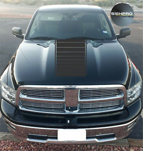 New Hood Fader Decal Vinyl Rally Stripes Graphics 1500 2500 3500 Fits Dodge Ram
