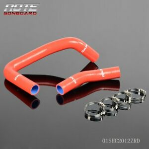 Silicone Radiator Hose Clamps For Toyota Corolla Ae86 4age 1983 1987 83 87 Red