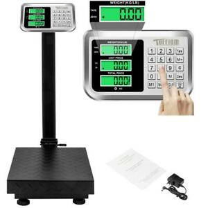 220lb 100kg 0 1kg Digital Computing Weight Shipping Floor Platform Scale Postal