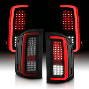 2007 2014 For Chevy Silverado 1500 2500 3500 Red Smoke Led Tail Lights Pair