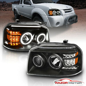 ccfl Halo for 2001 2004 Nissan Frontier Led Halo Projector Headlights Pair