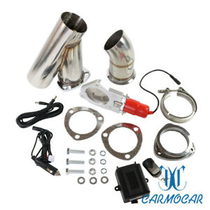 Mannal Electric Exhaust Catback Downpipe Cutout E Cut Out Valve System 3 76mm