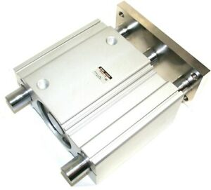 Up To 2 New Smc Linear 4 Stroke Large 80mm Bore Air Slide Cylinder Mgql80 100