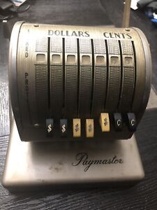 Vintage Paymaster Series X900 Check Writer With Cover Included No Keys