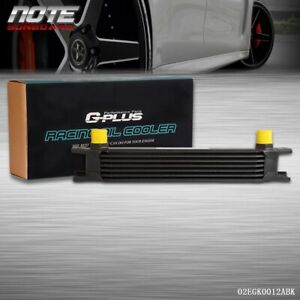 Gplus 7 Row Universal Engine Transmission Aluminum An 10 Black Oil Cooler Kit