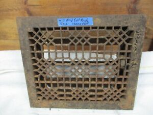 Antique Architectural Floor Heat Register Parts Grate Frame Door Cover Wall Cm