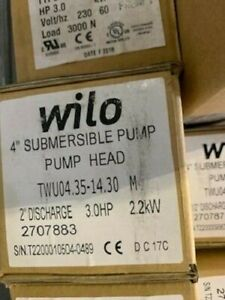 Wilo Submersible Pumpend 4 3hp 35gpm 2707883