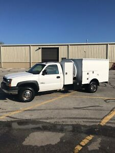 2003 Chevy Silverado 3500 Diesel Pringle Air Duct Cleaning Truck 23 000 Obo