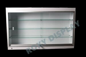 Wall Style White Showcase Display Case Store Fixture Knocked Down sc wc439w