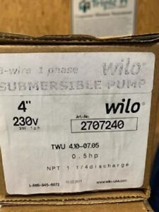 Wilo Submersible Pump Motor 4 1 2 Hp 230v 1ph 3 Wire 10gpm 2707240