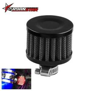 Cold Air Intake Filter 12mm Breather Crank Case Turbo Vent Universal Black