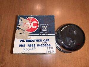 64 66 Nos Gto Ac Delco Valve Cover Breather Part 6420395 Chrome W Embossed Ac
