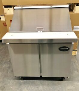 Sandwich Prep Unit 36 Table Salad 3 Refrigerator Prep Cooler 2 Door 15 Pan