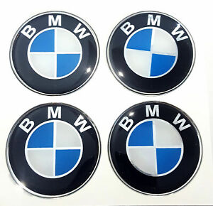 1set Bmw Sticker Rasin 45mm 4 5cm Wheel Center Caps Emblem Logo Decal
