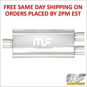 Magnaflow Stainless Steel Muffler 3 Inlet 2 5 Outlets 18 Body Length 12288