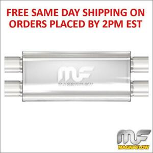 Magnaflow 5 x8 Oval Muffler 2 5 Dual In out 18 Body 24 Length 12468