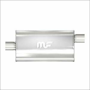 Magnaflow Stainless Muffler 3 Center Inlet Offset Out 22 Body 28 Long 12589