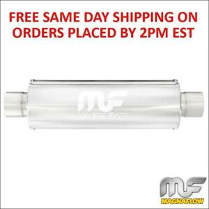3 5 Inlet 3 5 Outlet Magnaflow Stainless Steel Race Muffler 6 Round 14160