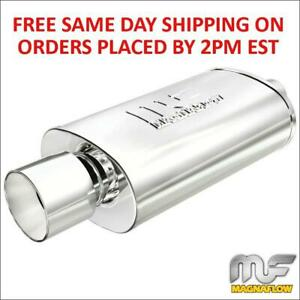 Magnaflow Universal Stainless Steel Muffler 14832 2 25 Inlet 4 Outlet