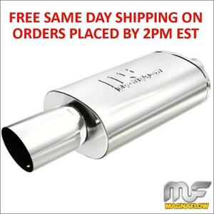 Magnaflow Stainless Oval Muffler With Tip Race Series Inlet Outlet 3in 4in 14834