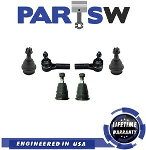 New Front Upper Lower Ball Joints Outer Tie Rods For Dodge Ram 1500 2006 2008