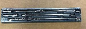 Snap On 1 4 Drive Knurled Extension Set 1 1 4 2 4 6 8 11 106btmx W Tray