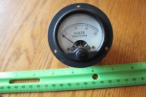 Simpson Model 125 Peak To Peal Volts Panel Meter Gauge Vintage 41287