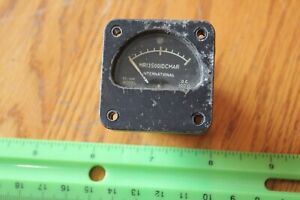 International Model 163 Panel Meter Gauge Fs ima Dc Mr13s00idcmar Vintage