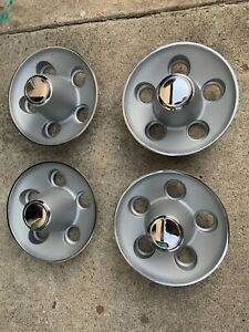 Mopar Rally Wheel Center Caps Argent Silver Big Bolt Pattern 5 On 4 1 2