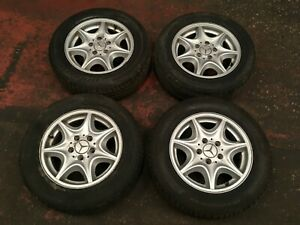 Mercedes Alloy Wheel Set 4x 15 With Tyres 195 65 r16 C Class W203 2034010002