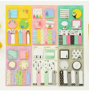 Lot 6 Japan Cute Schedule Marker Cat Memo Diary Journal Sticky Notes Index Tab