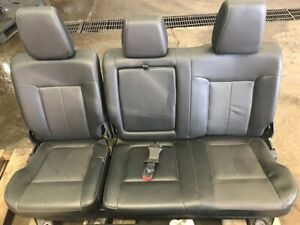 Black Leather Ford Super Duty Seats