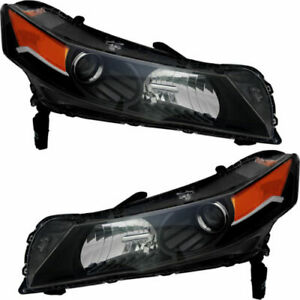 Fit For Acura Tl 2012 2013 2014 Headlight W hid Right Left Pair Set