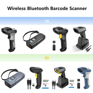 Inateck Barcode Scanner Bluetooth Wireless Laser Usb Handheld Scan Gun