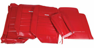 1964 1966 Mustang Deluxe Pony Front Bench Seat Cover Red