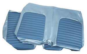 1966 Mustang Rear Convertible Bench Vinyl Seat Cover 2 Tone Blue